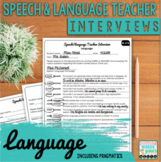 Speech and Language Teacher Interview - LANGUAGE  {for Edu