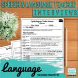 Speech and Language Teacher Interview | LANGUAGE for Educa