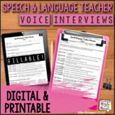Fillable VOICE Teacher Interview | for Educational Impact