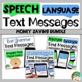Speech and Language Text Messages Bundle