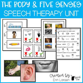 Speech and Language Thematic Preschool Unit: Body and Five Senses