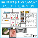 The Body and Five Senses Speech Therapy Activities