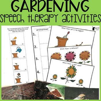 Gardening Speech Therapy Activities