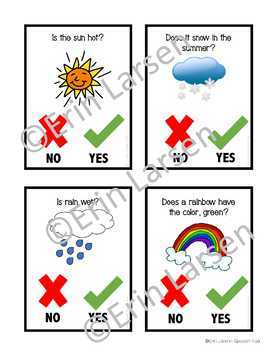 Speech and Language Thematic Preschool Unit: Weather