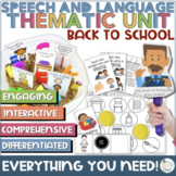 Speech and Language Therapy Back To School Thematic Unit |