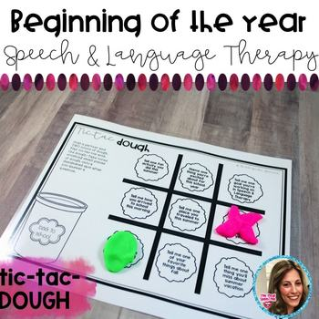 Speech and Language Therapy | Beginning of the Year Activities