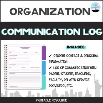 Speech and Language Therapy Communication Log