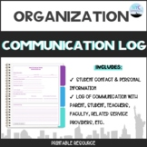 Speech and Language Therapy Communication Log