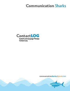 Speech and Language Therapy Contact Log