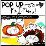 Speech and Language Therapy Craft: Pop Up Fall Fun