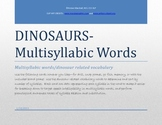 Speech and Language Therapy-DINOSAURS, DINOSAURS!