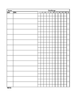Speech and Language Therapy Data Sheet Freebie