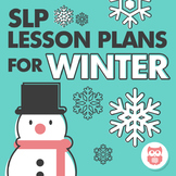 Speech and Language Therapy Lesson Plans for Winter - Best for Preschool to 2nd