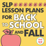 Speech and Language Therapy Lesson Plans for Back to Schoo