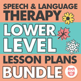 Speech and Language Therapy Lower Level Lesson Plans for t