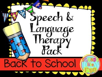Speech and Language Therapy Pack:  Back to School