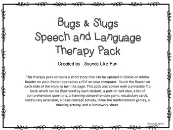 Speech and Language Therapy Pack: Bugs & Slugs