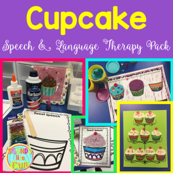 Speech and Language Therapy Pack: Cupcake