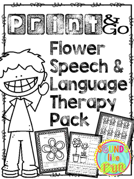 Speech and Language Therapy Pack: Flowers