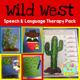 Speech and Language Therapy Pack: Wild West