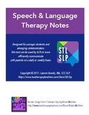 Speech and Language Therapy Parent Communication Note