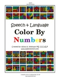 Speech and Language Color by Numbers