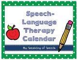 Speech and Language Therapy Room Decor Calendar