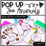 Speech and Language Therapy Zoo Animals: Pop Up Craft