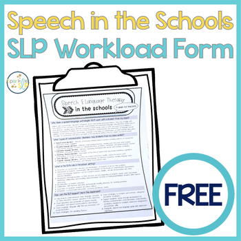 Speech and Language Therapy in the Schools A Guide for Teachers FREEBIE