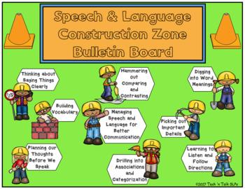 Speech and Language Under Construction Bulletin Board Set