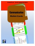 Speech and Language Wallet-Cards