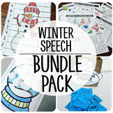 Speech and Language {Winter Bundle}