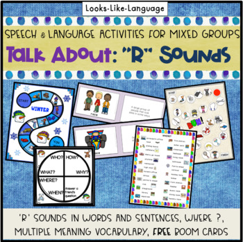Speech Therapy Articulation & Language- 'R' Sound Picture