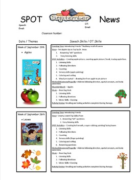 Speech and OT Sample Newsletter