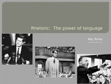 Speech and Rhetoric Vocabulary Terms PowerPoint