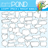 Scrappy Speech and Thought Bubble Clipart
