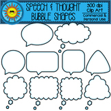 Speech and Thought Bubble Shapes Clip Art