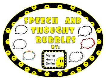 Writing ~ Speech and Thought Bubbles