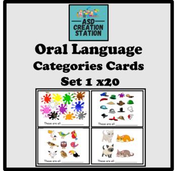 Speech and language/ASD categories cards.