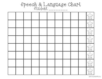 Speech and language sticker chart