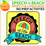 Speech at the Beach - No Prep Speech and Language