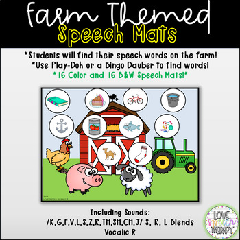 Speech at the Farm! - Speech Mats