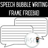 Speech bubble writing frame