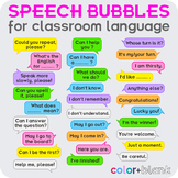 Speech bubbles for classroom language