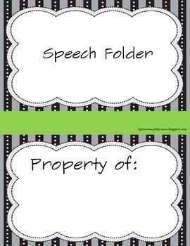 Speech folders