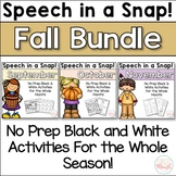 Speech in a Snap! Fall Bundle