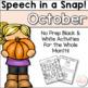 Speech in a Snap! Fall Bundle