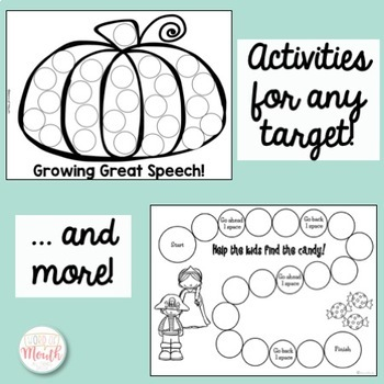 Speech in a Snap October: No Prep Activities for the Entire Month!
