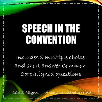 Speech in the Convention