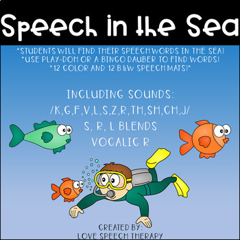 Speech in the Sea - Speech Mats - Color and B&W